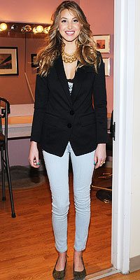 Whitney Port in Kill City and L.A.M.B. shoes