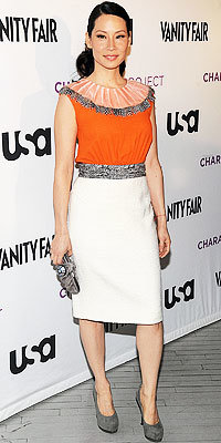 Lucy Liu in Rachel Roy