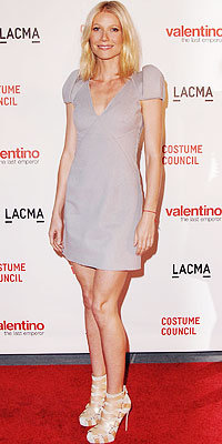 Gwyneth Paltrow in Valentino and Christian Louboutin shoes