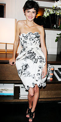 Audrey Tautou in Chanel and Sergio Rossi shoes
