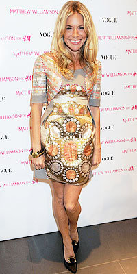 Sienna Miller in Matthew Williamson