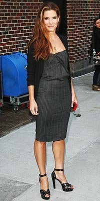 Sandra Bullock in Azzedine Alaia shoes
