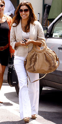 Eva Longoria Parker with a Gustto bag
