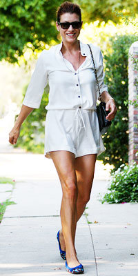 Kate Walsh in Lanvin flats