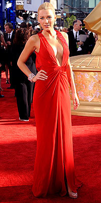 Blake Lively in Versace and Christian Louboutins