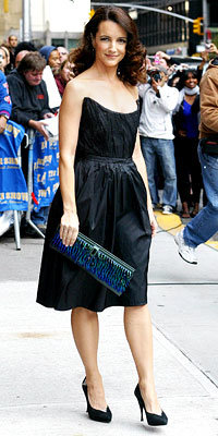 Kristin Davis with a Raven Kauffman Couture bag