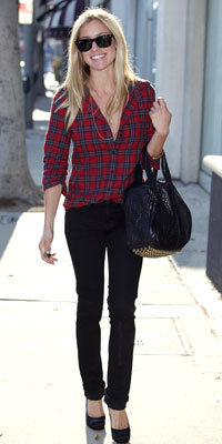 Kristin Cavallari in Elizabeth and James and Paige Premium Denim