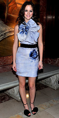 Leighton Meester in Prabal Gurung