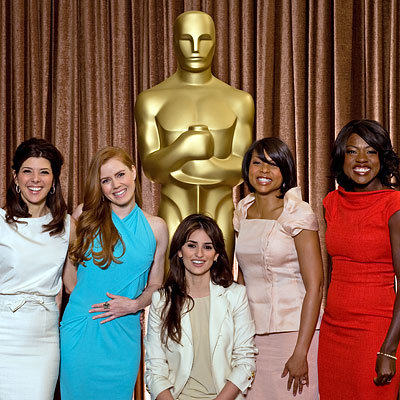 Marisa Tomei, Amy Adams, Penelope Cruz, Taraji P. Henson and Viola Davis, 2009 Oscar Nominees Luncheon, Los Angeles