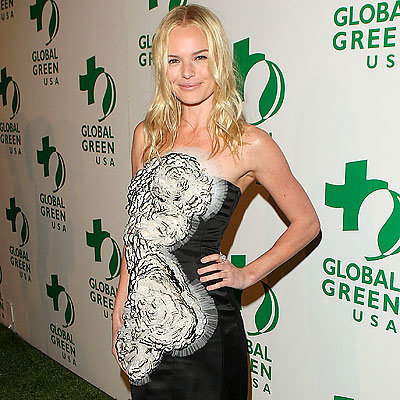 Kate Bosworth in Loewe dress and Chanel jewelry, 2009 Global Green pre-Oscar party, Los Angeles, Academy Awards