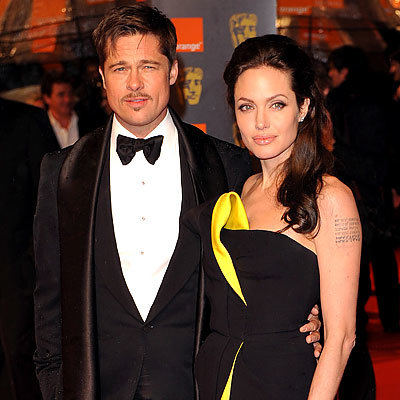 Brad Pitt, Angelina Jolie in Giorgio Armani, 2009 British Academy of Film Awards, London