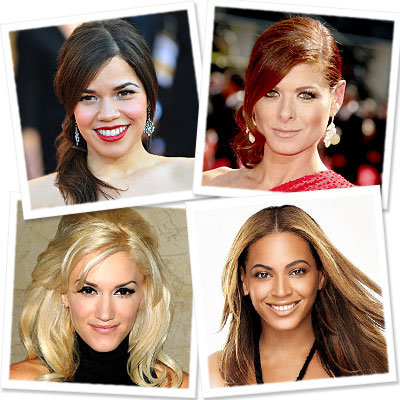 party hair - Debra Messing - Beyonce - America Ferrera - Gwen Stefani