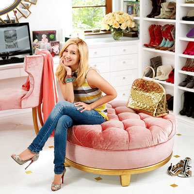 Ashley Tisdale's closet