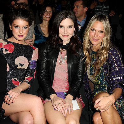 Fall 2010 Fashion Week - Shenae Grimes, Sophia Bush and Molly Sims - Diane von Furstenberg Show