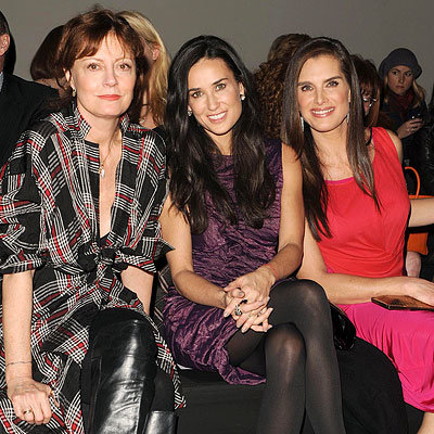 Fall 2010 Fashion Week - Susan Sarandon, Demi Moore and Brooke Shields - Donna Karan 25th Anniversary Fashion Show