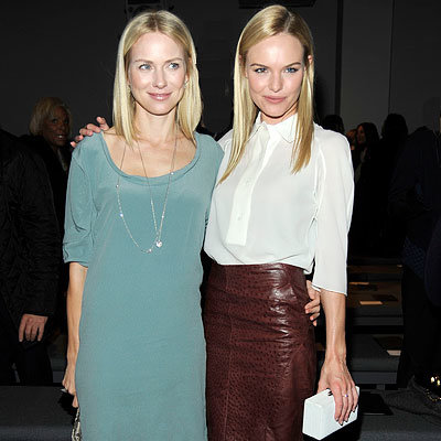 Fall 2010 Fashion Week Parties - Naomi Watts and Kate Bosworth - Calvin Klein Show