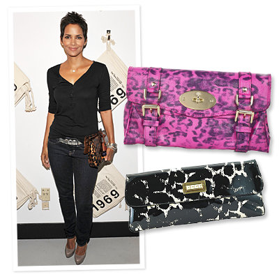 Halle Berry - Print Clutch - Mulberry - Tory Burch