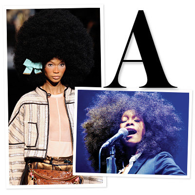 Louis Vuitton spring show and Erykah Badu