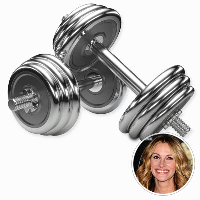 Julia Roberts - Dumbbells - Star Workout at Home - Celebrity Fitness