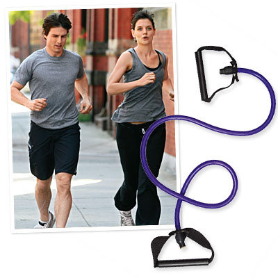 Katie Holmes and Tom Cruise jogging