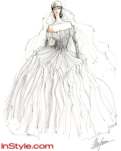 Fashion Designers Sketch Kate Middleton's Wedding Dress - Max Azria