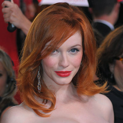 Christina Hendricks-Golden Globes 2010-Hair