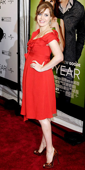 Amy Adams in Carolina Herrera