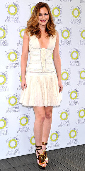 Leighton Meester in Herve Leger by Max Azria