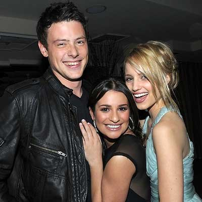 Parties -  Cory Monteith, Lea Michele and Dianna Agron - InStyle celebrates the Golden Globes with the cast of Glee