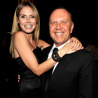 Fall 2010 Fashion Week Parties - Heidi Klum in Michael Kors and Michael Kors - amfAR Fashion Week Kickoff Gala