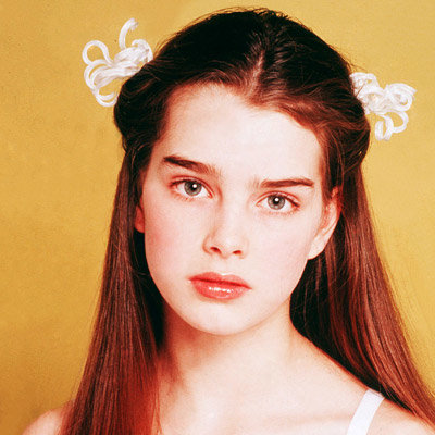 Brooke Shields, Transformation, Pretty Baby, celebrity hair, celebrity makeup