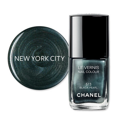 New York City - America's Most Wanted Nail Colors - Chanel Black Pearl