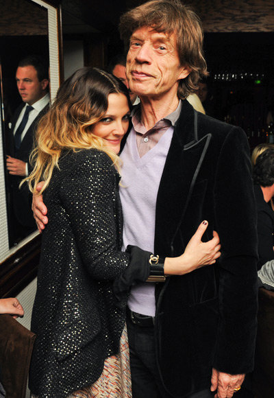 2011 Academy Awards - Chanel and Charles Finch Host a Pre-Oscar Party - Drew Barrymore and Mick Jagger