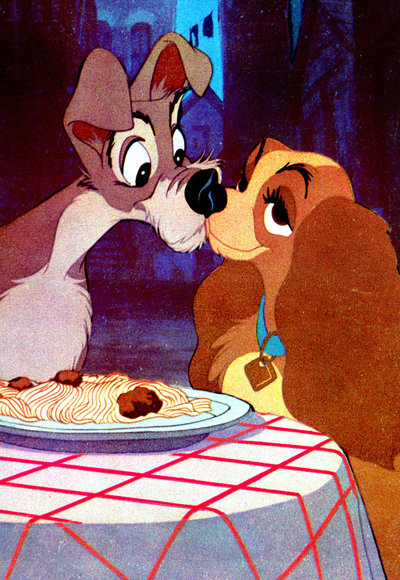 Iconic Kisses - Lady and the Tramp - Disney