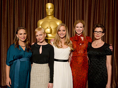 The 2011 Oscar Nominees Luncheon - Academy Awards - Natalie Portman, Michelle Williams, Jennifer Lawrence, Nicole Kidman and Annette Bening