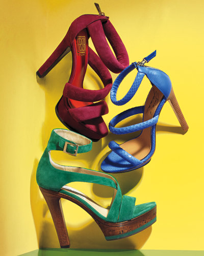 Spring Accessories - Springs Cutest Shoes - Jewel-Tone Heels - Jimmy Choo