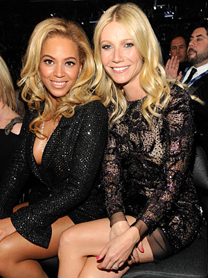 2011 Grammy Awards - Grammy Parties - Beyonce and Gwyneth Paltrow