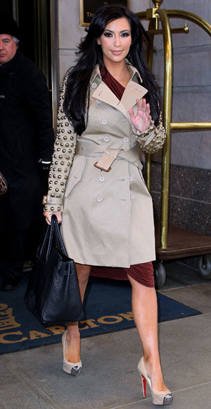 Kim Kardashian's 7 Style Must-Haves - A Trench Coat