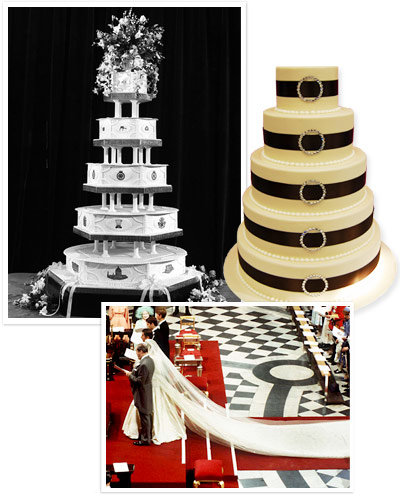 princess diana wedding cake princess diana s wedding then and now instyle 18768