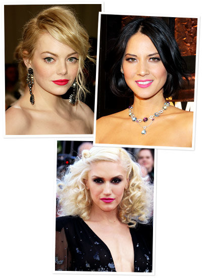 Gwen Stefani - Emma Stone - Hot Pink Lipstick - Bright Summer Makeup You Can Really Wear