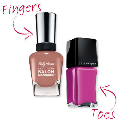Ashlie Johnson - Nude and Neon Nails - Cute Nail Polish Combos for Your Fingers and Toes