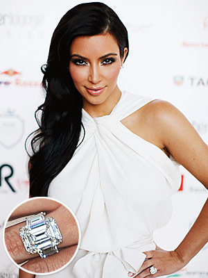 Kim Kardashian - Kris Humphries - The Hottest Celebrity Engagement Rings