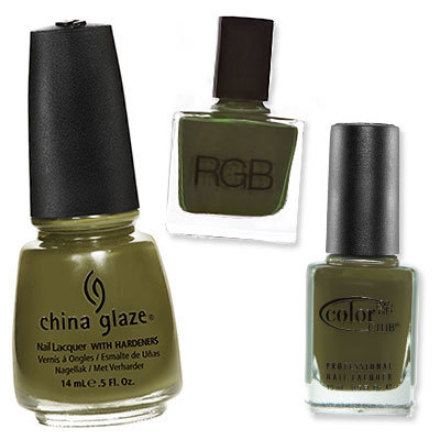 Army Green - Which Nail Colors Will You Wear This Season? - Fall Nail Colors