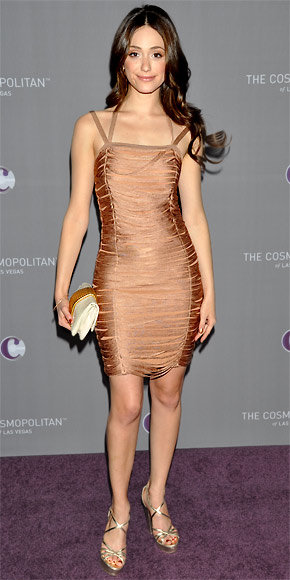 Emmy Rossum in Julien Macdonald