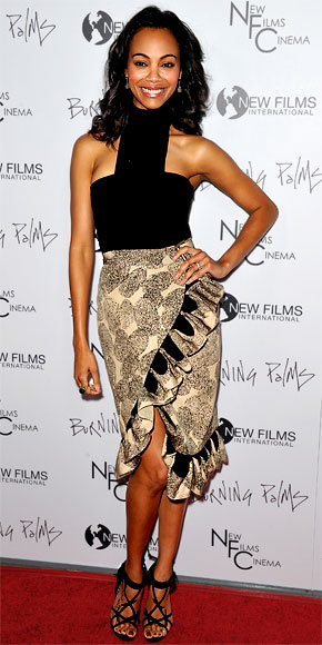 Zoe Saldana in Yves Saint Laurent