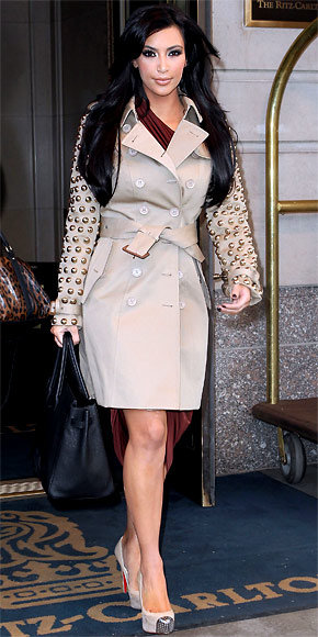 Kim Kardashian in Burberry