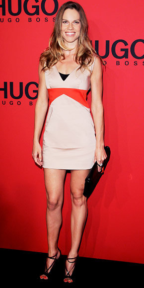 Hilary Swank in Hugo Boss