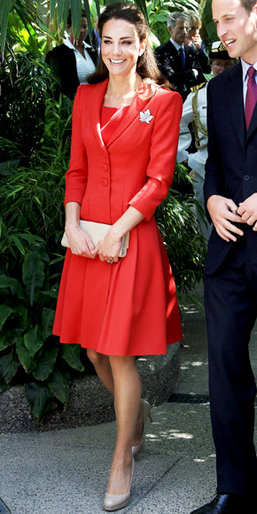 Catherine Middleton in Catherine Walker