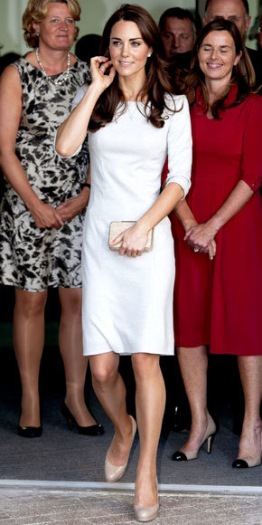 Catherine Middleton in Amanda Wakeley
