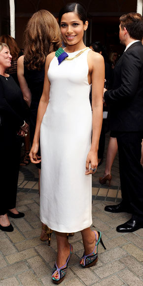 Freida Pinto in Calvin Klein Collection